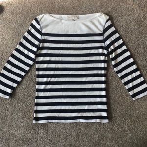 Navy & white stripe 3/4 sleeve Jones New York top